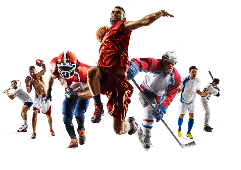 Players from different sports disciplines.